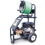 Cart Gas Drain Jetter, 3000PSI 16HP Vanguard with 200' Hose