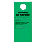 Doorknob Cards, Bilingual Discontinue Boil Water(100/PK)