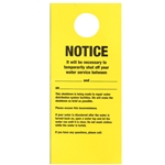 Doorknob Cards, Bilingual Temporary Shut-Off (100/PK)