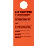Doorknob Cards, Bilingual Boil Water Order (100/PK)