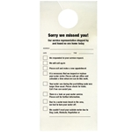 Doorknob Cards, Bilingual Miscellaneous Service (100/PK)