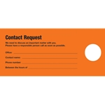 Doorknob Card, Contact Request Bi-lingual, Bright Orange
