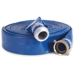 "PVC Discharge Hose 1.5"" x 100', Blue or Grey"