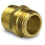 "Brass Double Male Nipple 3/4"" GHT x 3/4"" GHT"