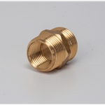 "Brass Double Male Nipple 3/4"" & 1/2"" NPT x 3/4"" GHT"