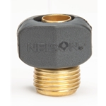 "Brass Cplg Half w/Nylon Clamp 3/4"" GHT (M)"