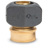 "Brass Cplg Half w/Nylon Clamp 3/4"" GHT (F)"