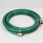 "1"" x 15' PVC Suction Hose MxF, NPSH Thrd, (F) Swivel"