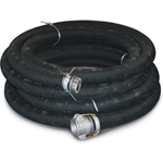 Rubber Suction Hose 6 x 20' 6 NPT(m) & Quick Alum (F)