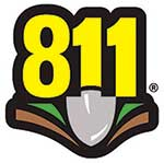 Dial 811 Patch Decal, 20 pack