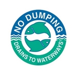 das Storm Drain Marker - Reads No Dumping-Drains to Waterways