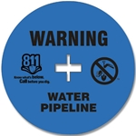 Blue Soilmarker for Water with Stake