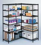 48x18 Add-on Unit Black Wire Shelving