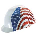 MSA Freedom Series Helmet American Flag Design