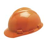 MSA V-Gard Protective Cap Orange w/ Fas-Trac Suspension