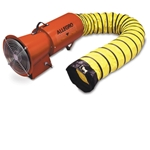 "12VDC Axial Blower w/Canister & 15' of 8"" Hose"