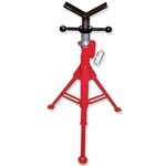 "Folding Pipe Jack Stand,V-Head 27""-50"" Adjustable Height"