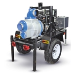 "AMT 6"" Trailer-Mounted Trash Pump, 24HP Honda, 3"" Solids"