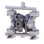 "SANDPIPER® Air-Powered Diaphragm Pump (Plastic ""S"" Series)' 4 GPM' PB1/4-A' TT3PP"
