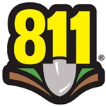 Dial 811 Patch Decal for 1-Rail Posts 20/PK