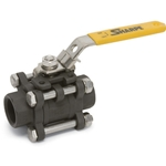 "1-1/4"" Carbon Steel 3 Piece Full Port Threaded Ball Valve"