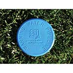"4"" Blue SoilMarker™ for Water with Stake & 811 LOGO"