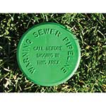 "4"" Green SoilMarker™ for Sewer with Stake"