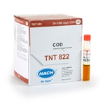 (OR) Hach COD Reagent' TNTplus' High Range' 20 to 1500 mg/L' 25/PK' TNT822
