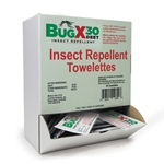 BugX 30 Insect Repellent Towelettes' 50/Box' 12644