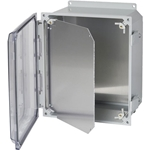 Aluminum Hinged Dead Front for 8 x 10 Polycarbonate Enclosure' HFPP108