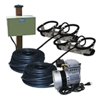 Kasco® Robust-Aire™ Aeration System w/ Post-Mount Cabinet, 240V, 2 Diffusers, 200' Tubing, RAH2-PM