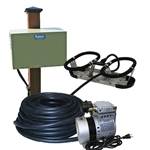 Kasco® Robust-Aire™ Aeration System w/ Post-Mount Cabinet, 240V, 1 Diffuser, 100' Tubing, RAH1-PM