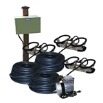 Kasco® Robust-Aire™ Aeration System w/ Post-Mount Cabinet, 120V, 3 Diffusers, 300' Tubing, RA3-PM