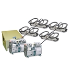 Kasco® Robust-Aire™ Aeration System w/ Floor-Mount Cabinet, 240V, 4 Diffusers, 400' Tubing, RAH4