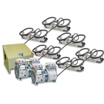 Kasco® Robust-Aire™ Aeration System w/ Floor-Mount Cabinet, 120V, 6 Diffusers, 600' Tubing, RA6
