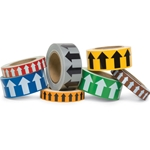 Directional Flow Arrow Tape: White/Red' 1 Inch x 36 Yards' CU-97039