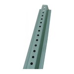 "Steel Sign Post: 6 Foot.' U-Channel' Green' 3/8"" Diameter Holes Punched' P6GR"