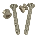 Sign Post Security Hardware Kit: 2 Bolts' 2 Washers' 2 Nuts' NBTR