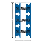 Directional Flow Tape: Chilled Water (with Arrows)' 3 inch x 20 foot roll