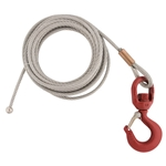 "3/16"" x 80' Galvanized Cable Assembly for Hand Winch Version of OZ COMPOZITE Davit Cranes"