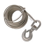"3/16"" x 80' Stainless Steel Cable Assembly for Hand Winch Version of OZ COMPOZITE Davit Cranes"