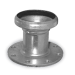 "10"" Female 150# Flange Ball & Socket Coupling w/ Lever Assembly"