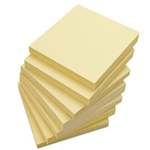 "3"" x 3"" Self-Stick Note Pads' Yellow' 12/Pack"
