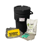 BlackDiamond 50-Gal Wheeled Poly-SpillPak Drum Spill Kit Oil Only Absorbs up to 25 Gal