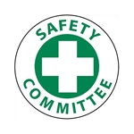 "2"" Vinyl Hard Hat Emblem' ""Safety Committee'""  25/Pack"