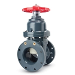 "Asahi/America PVC Gate Valve w/ 2"" Sq. Operating Nut' 6"" Flg"
