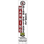 High-Voltage Cable Decal w/ Custom Print Name & Phone #