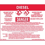 """Diesel"" Right-To-Know Sign Decal' 3-1/2"" x 4-1/2"""