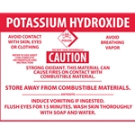 """Potassium Hydroxide"" Right-To-Know Sign Decal' 3-1/2"" x 4-1/2"""