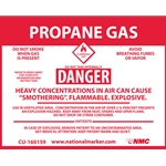 """Propane Gas"" Right-To-Know Sign Decal' 3-1/2"" x 4-1/2"""